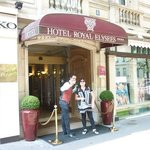 Willy with the friendly staff at the hotel royal elysees