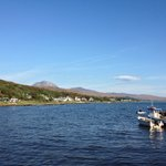 View from the hotel grounds over the Paps of Jura