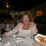 Enjoying a meal at restaurant Arkada