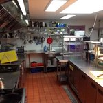 Another view of our new kitchen. Here we cook from scratch to order using fresh ingredients.