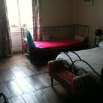 Double bed and guest bed