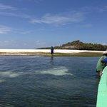 Arriving at Chumbe Island