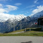 The long cable care to/from Grindelwald  - Mannlichen Berghaus