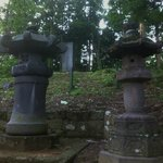 Lanterns and marker up the hill