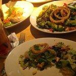 Salad and fish