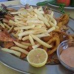 Fresh fried Calamari & Sultan Ibrahim fish