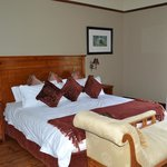 The bedrooms are huge, comfortable and scenic. Very quiet. Loved the fireplace in the room!