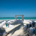 Ceremony Setup on the beach