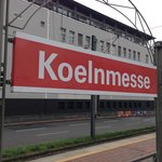 Koelnmesse - the station near the hotel