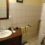 the bathroom of room 22