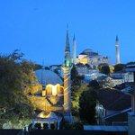 Blick aus unserem Zimmer auf die Hagia Sophia