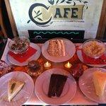 Tiramisu, Italian Cream cake, bread pudding, key lime pie, chocolate cake, and cheesecake!  Yumm