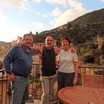 Our host, Giuliano, with us on the patio