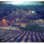 vista del pueblo desde la habitacion 14
