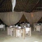 La sala ristorante del Mawe Resort