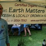 Market Manager Greg Smith at his Earth Matters Booth