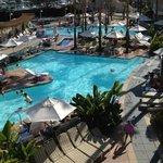 Loews Coronado pool area from hotel room balcony!