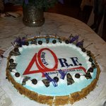 Torta di festa 40 esimo RF