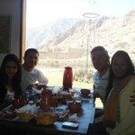 Desayunando con una hermosa vista!!!