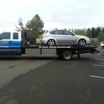 Our vehicle heading to Les schwab for repairs