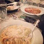 Spaghetti Marinara e Fettuccini Alfredo