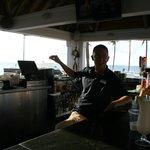 Jeff Explaining Things at TJ's Tiki Bar