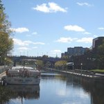 Rideau Canal with boat