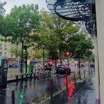 Vue de la fenetre sous la pluie
