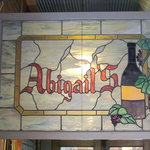 Abigail's stained glass sign