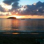 Sunrise from the Es Cana beach