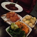 our gorgeous tea and sides! fillet steak Rossini yum!!