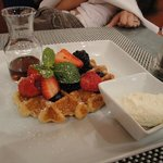 Fig and Olive Waffle