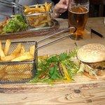 Lamb Burgers and Fries