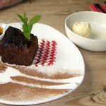 Sticky Toffee Pudding with Caramel and ice cream
