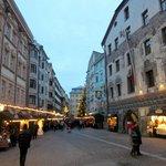 Old town Innsbruck with Goldener Adler at right