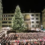 Goldenes Dachl and the Innsbruck Christmas market yards away from the hotel