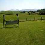 back garden overlooking the Mourne Mountains