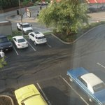 muscle car burnout marks under my window. imanager would not stop them from doing this all night