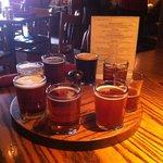 Beer sampler. Rodeo rye was good