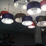 Ceiling Lighting in the breakfast bar area.