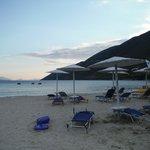beach sun beds