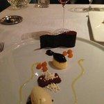 Chocolate dessert plat