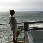 private balcony at sunset - whales off shore!