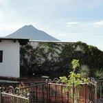 Vista del Volcan desde la terraza