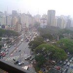 Vista para as Avenidas Bernadino Campos e Vergueiro.