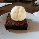 brownie with ice cream.  yummm...