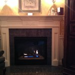 the fireplace in the Jarves room