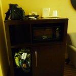 Refrigerator and microwave plus coffeemaker unie