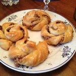 Breakfast - Homemade mini cinnamon rolls!  SOOOOO tasty!