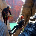 Abseiling in Knox Gorge